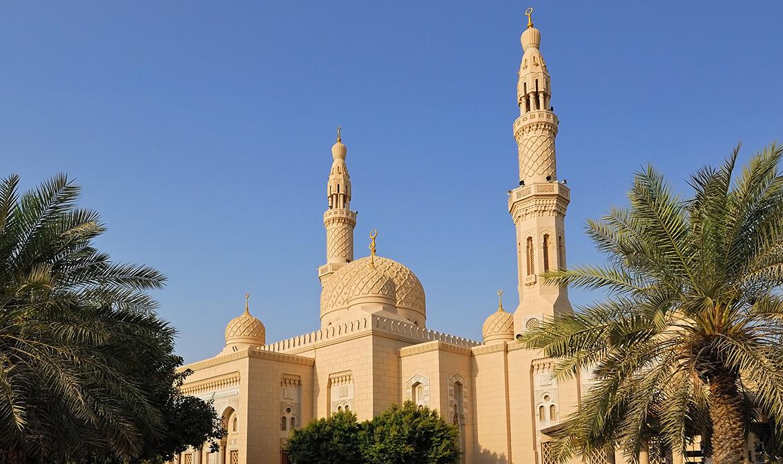 Dubai,  Dđamija Jumeirah,  daleko putovanje zrakoplovom, grupni polasci, garantirani polasci
