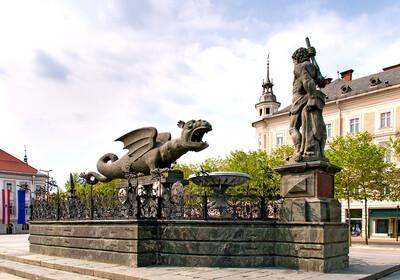 Austrija - Klagenfurt - Winged dragon fountana