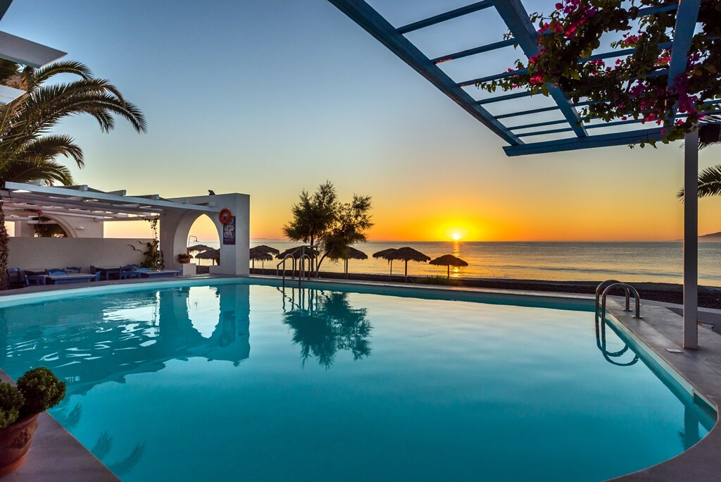 Santorini ljeto, Kamari, Hotel Sigalas Exclusive, bazen