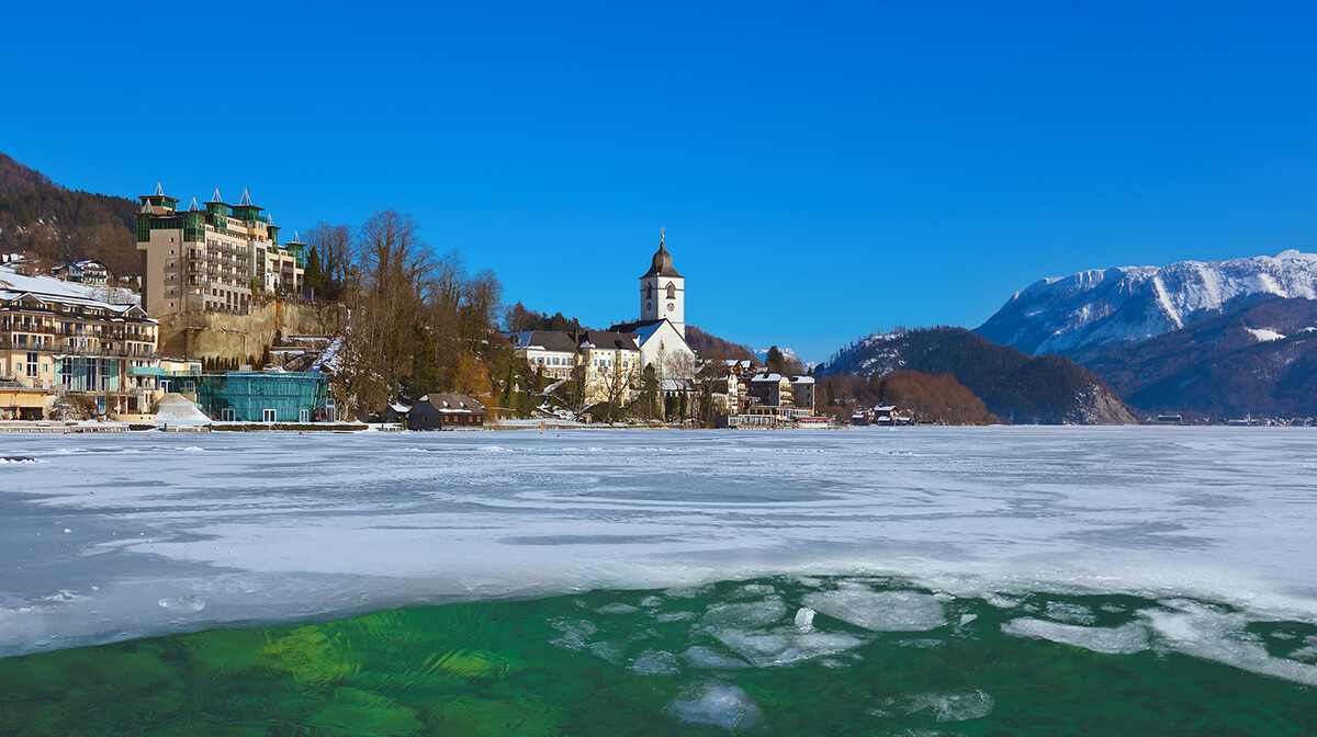 Salzburg putovanje, St Wolfgang, jezero Wolfgangsee, Mondo travel
