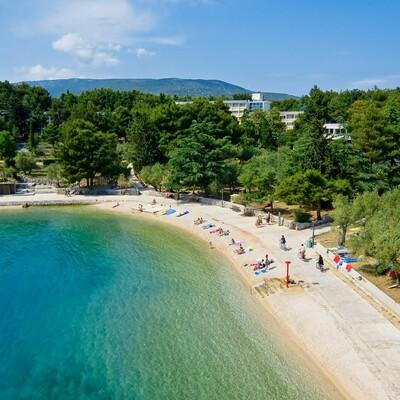 Cres, Hotel Kimen, plaža