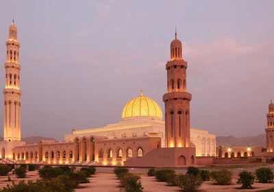 Oman - Sultan qaboos grand mosque in Muscat