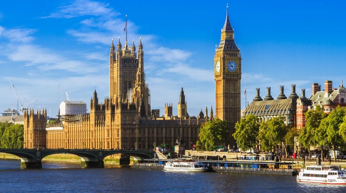 Parlament i Big Ben, putovanje u London avionom