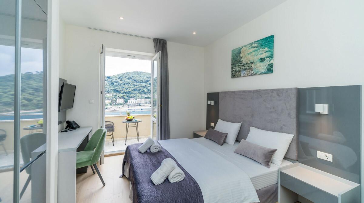 Dubrovnik, Hotel Art, dvokrevetna soba pogled more