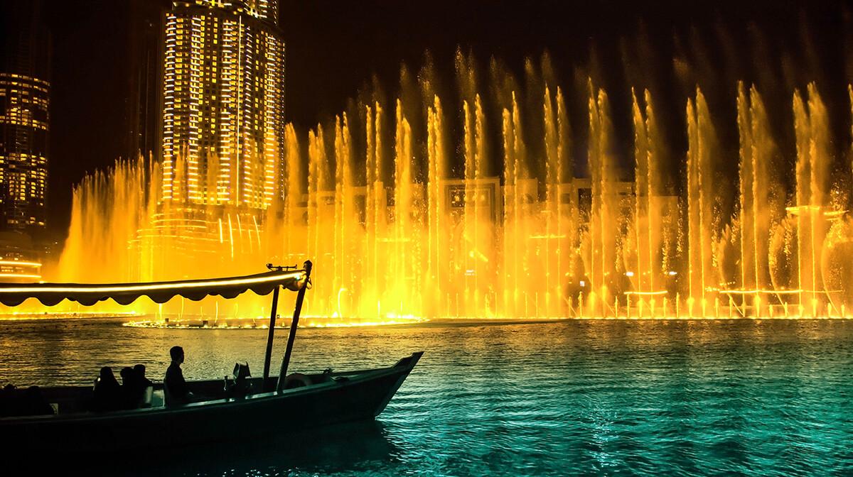 Dubai, fontane, ptovanje u Dubai, Emirati, grupni polasci, daleka putovanja