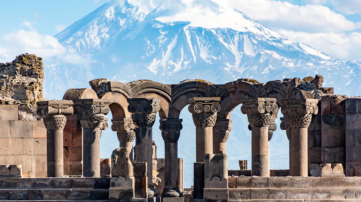 Armenia -  Zvartnos temple in Yerevan