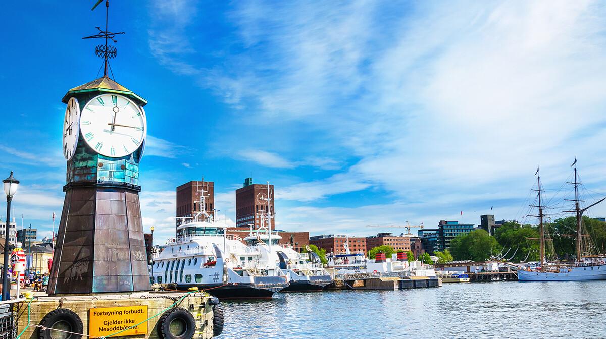 Satni toranj u Oslu, putoavnje u Skandinaviju, krstarenje norveški fjordovi