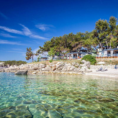 Krk, Jezevac premium camping resort lungomare, plaža