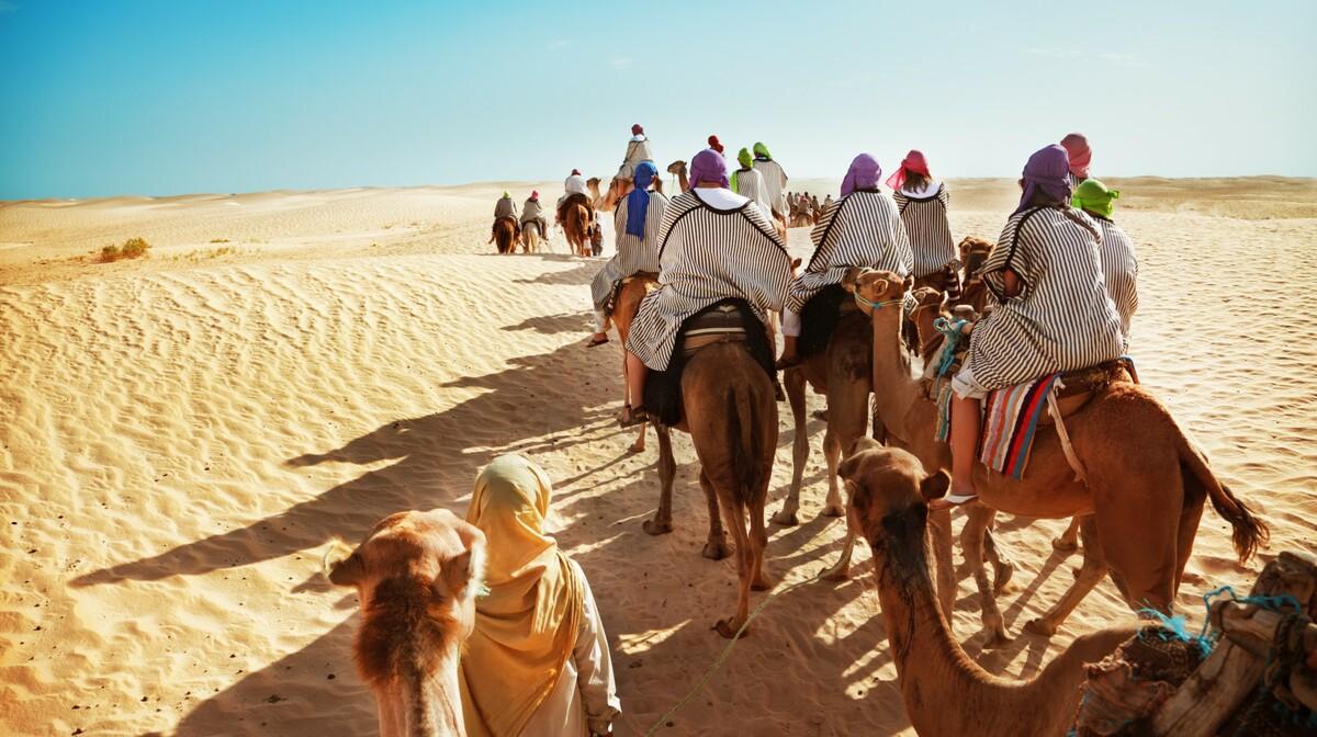 Jahanje deva u pustinji, Tunis, ljetovanje Mediteran, charter let Tunis, garantirani polasci