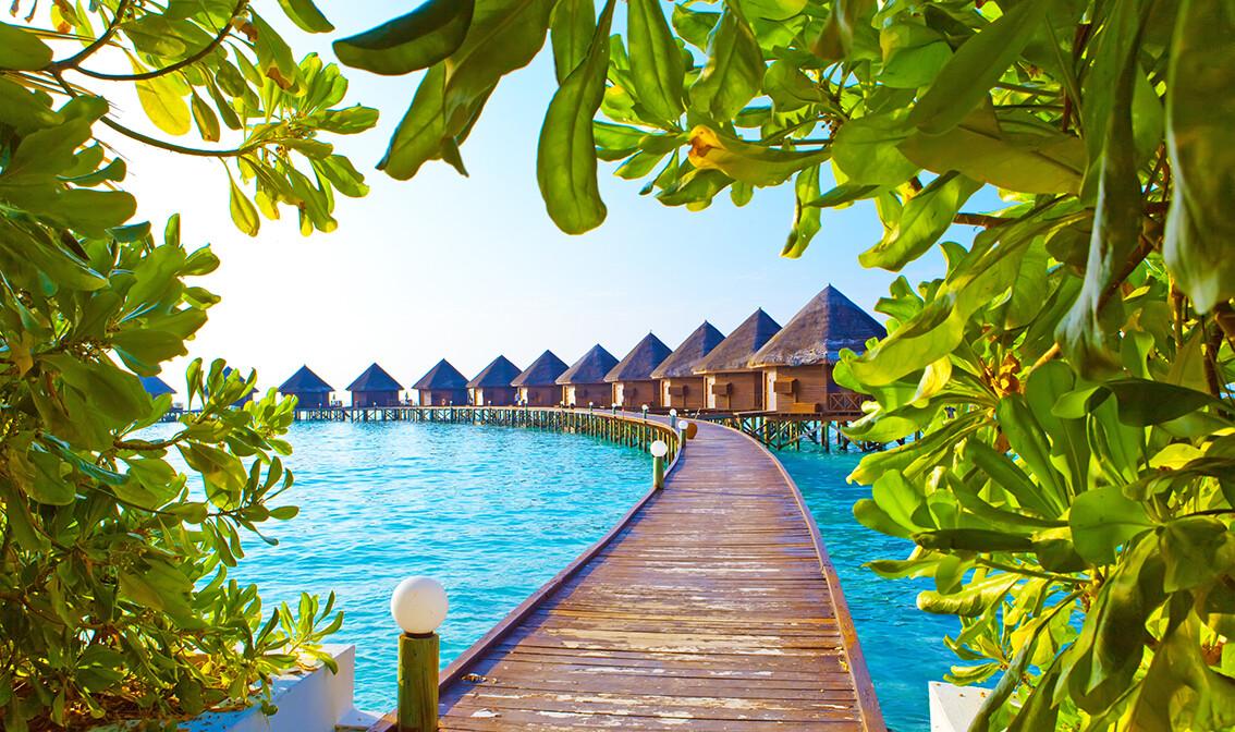 Maldivi, primjer bungalova na vodi, putovanje na Maldive, grupni polasci, daleka putovanja