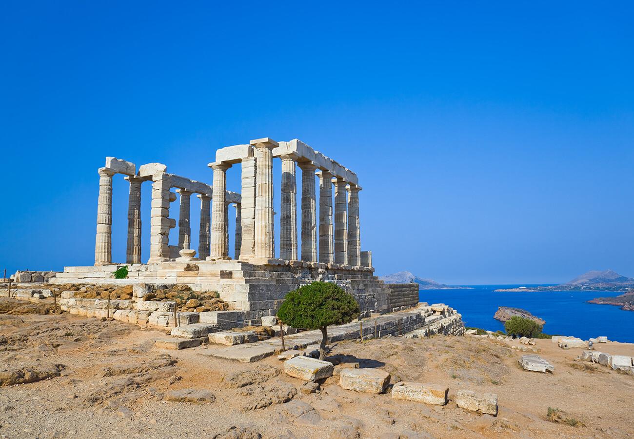 Atena, Sounion - Posejdonov hram s prekrasnim pogledom na Egejsko more, putovanje zrakoplovom