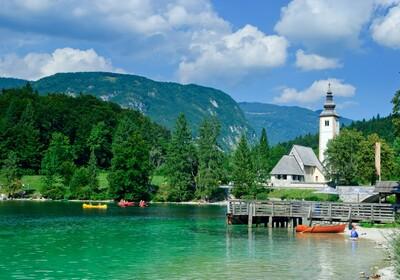 Slovenija, Bohinjsko jezero, Bohinj, priroda i vožnja kajacima