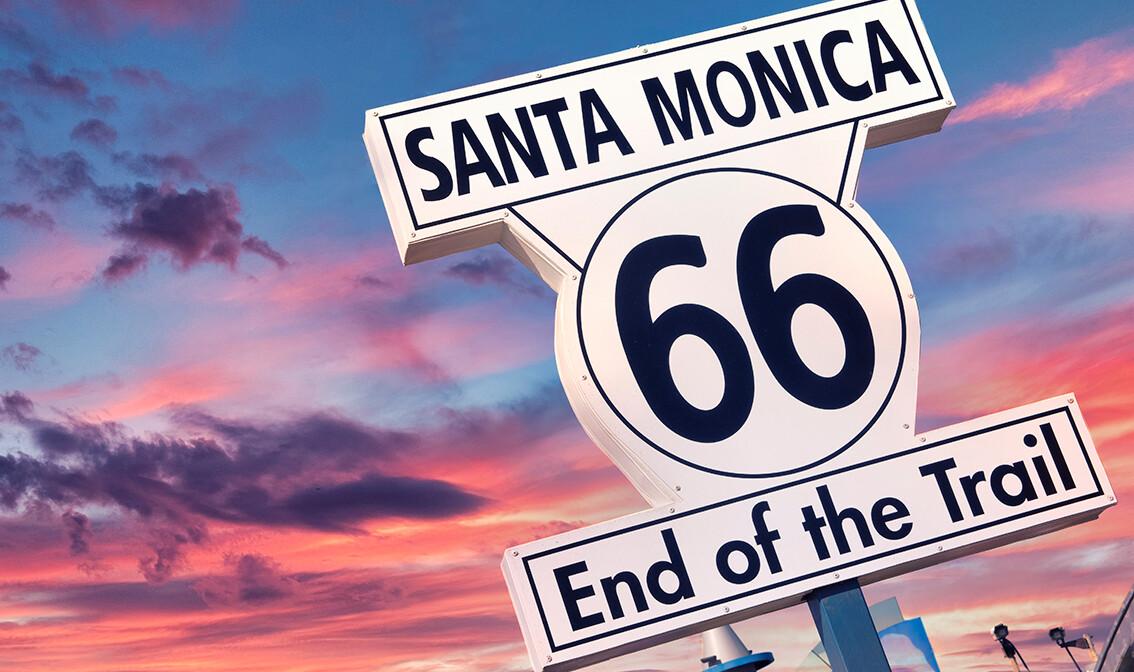 Legendarna američka cesta Route 66, kraj ture Santa Monica, daleka putovanja, mondo travel