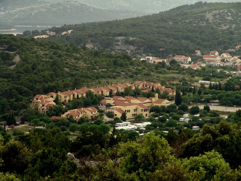 Apartmansko naselje Hostin, Tisno, panorama