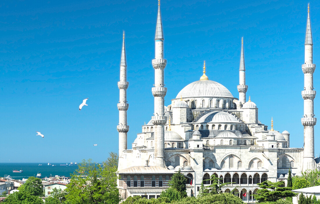 Plava Džamija, putovanje zrakoplovom u Istanbul