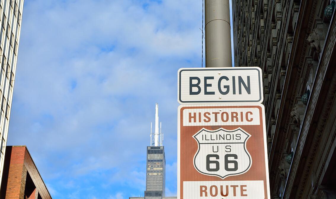 Početak Route 66, Chicago, putovanje u SAD, Američka tura, daleka putovanja, mondo travel