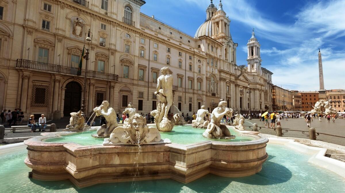 Berninijeva Piazza Navona, putovanje u Rim zrakoplovom