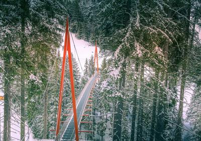 Austrija, most Golden Gate, Saalbach-Hinterglemm