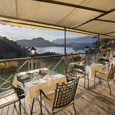 Bled, hotel Triglav, terasa