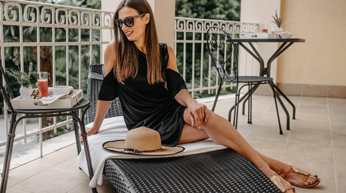 Lovran, Villa Eugenia, Luxury  soba, balkon