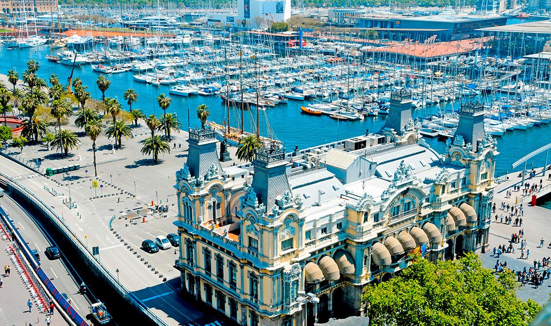 Carinarnica i luka Port Vell, putovanje u Barcelonu, europska putovanja zrakoplovom, mondo travel