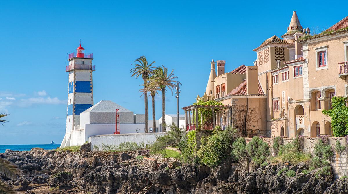Santa Marta svjetionik u Cacaisu, putovanje u Portugal