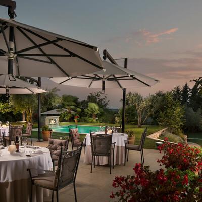 Hrvatska, Istra, Brtonigla, Heritage Hotel & Restaurant San Rocco, terasa
