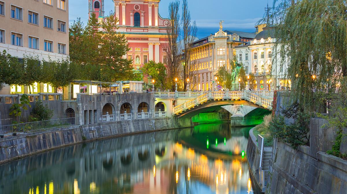 Ljubljana u sumrak, putovanja autobusom, Mondo travel, europska putovanja, garantirano putovanje